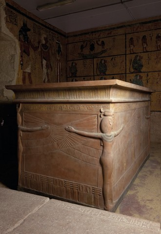 An exact replica of the tomb of Tutankhamun, a gift to Egypt.