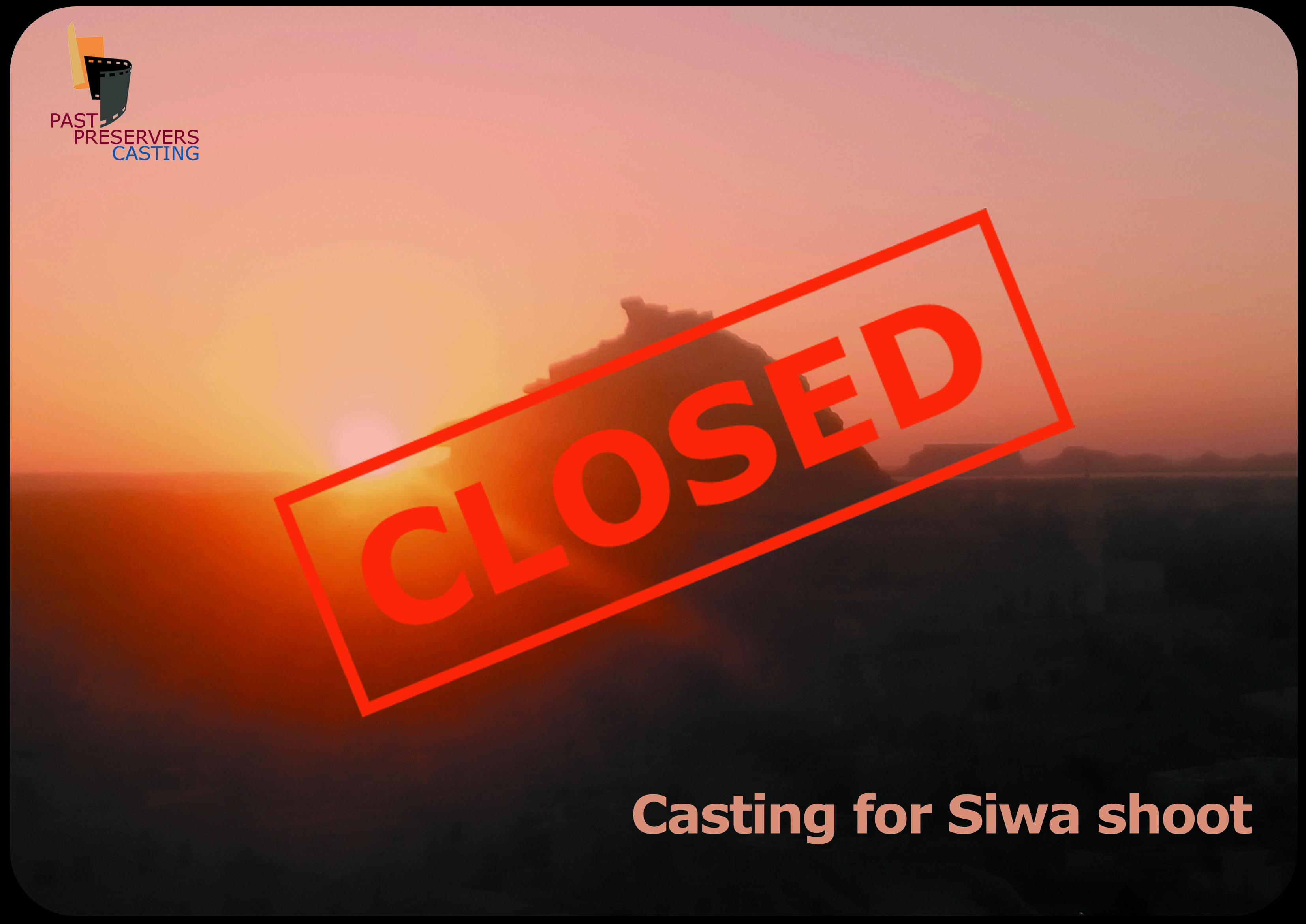 An Archaeologist/Egyptologist for a one day shoot in Siwa needed