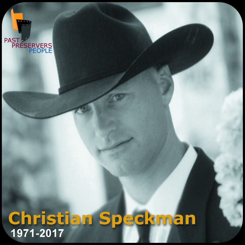 In memory of Dr Christian Speckman