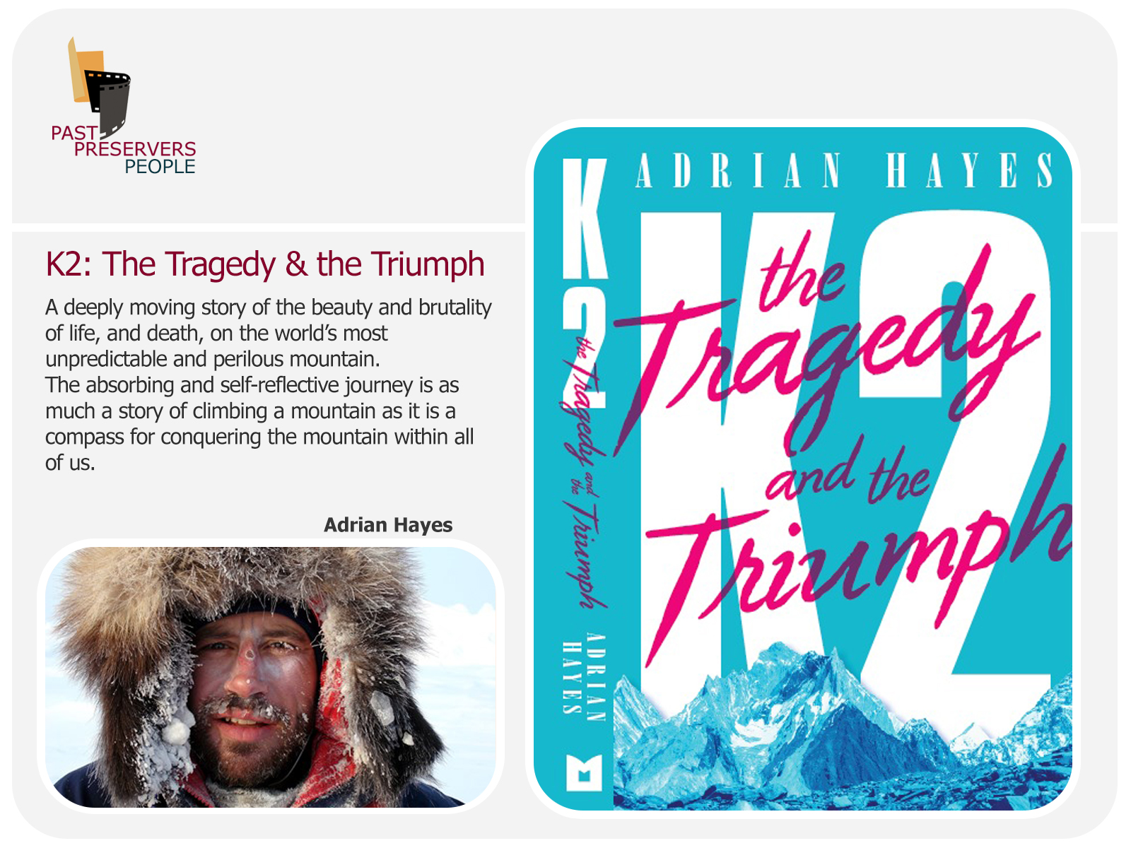 Latest book from our presenter Explorer Adrian Hayes!