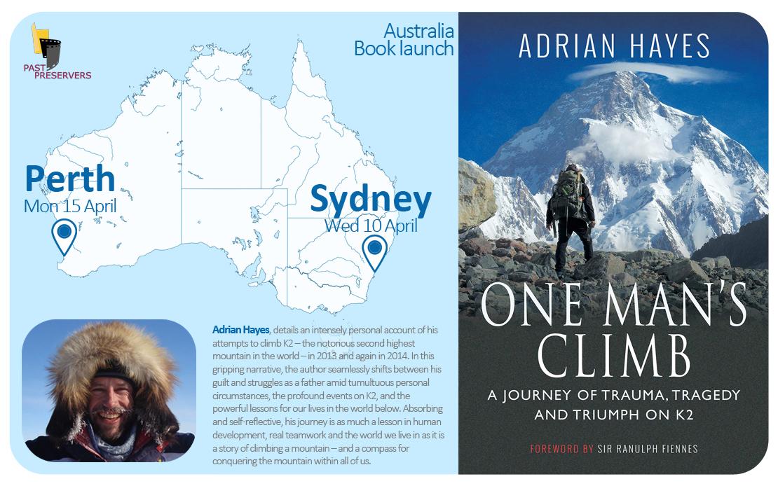 Explorer Adrian Hayes on Australian Book Tour