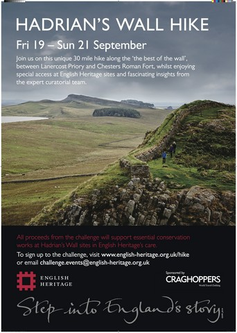 Support Past Preservers on The Hadrian's Wall Hike