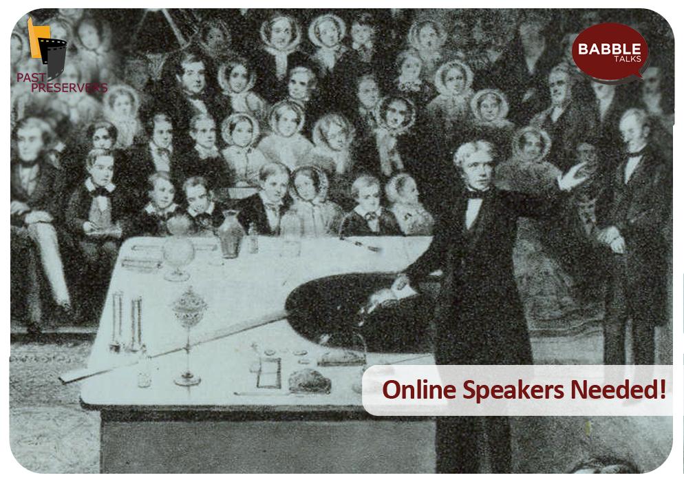 Online Speakers Needed!