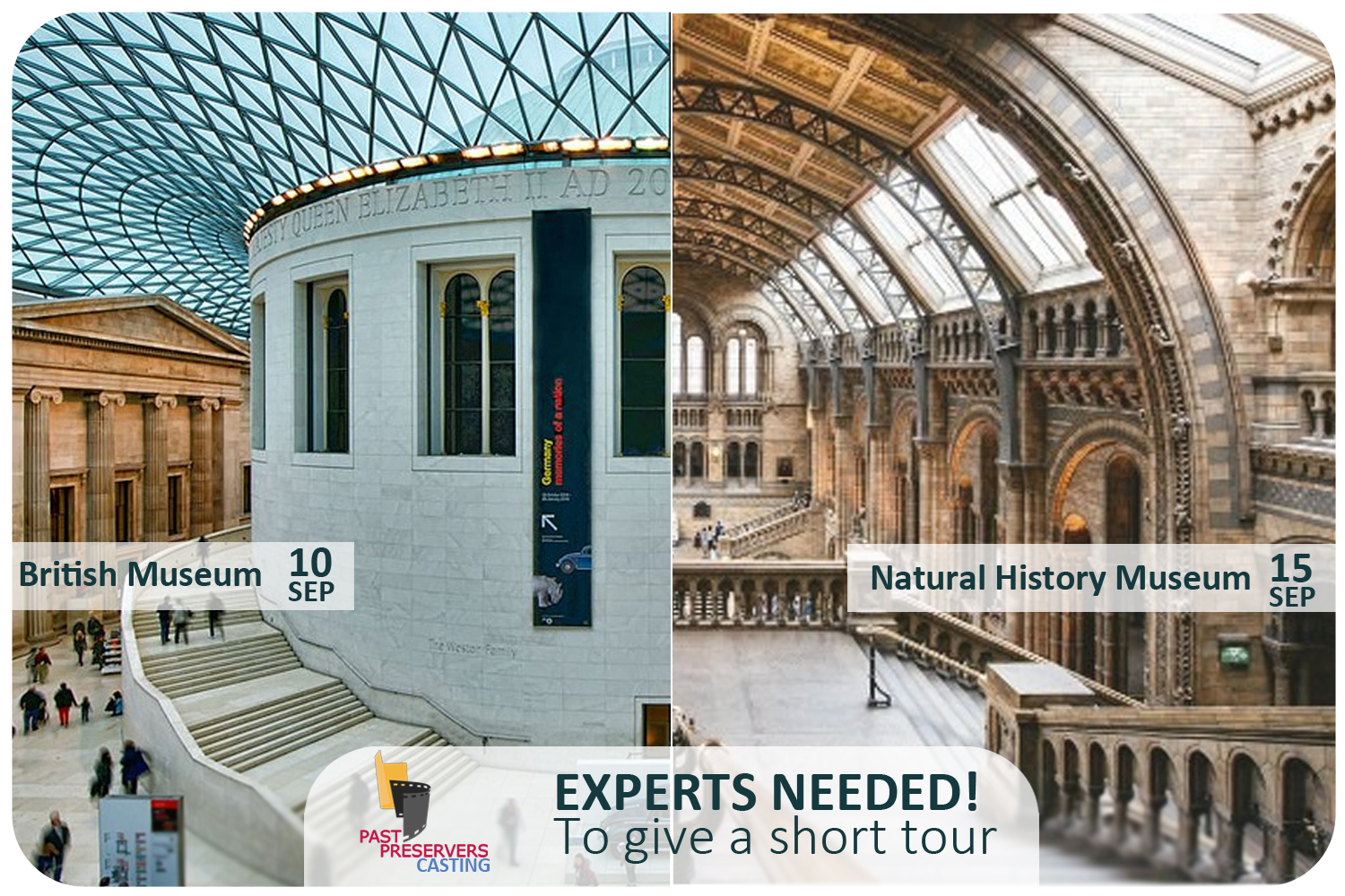 Experts needed to give a private museum tour!