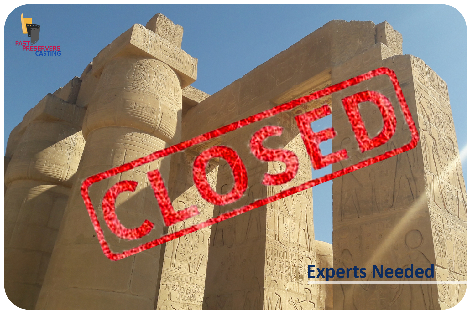 Egyptologists Needed for a one-day shoot in Luxor!